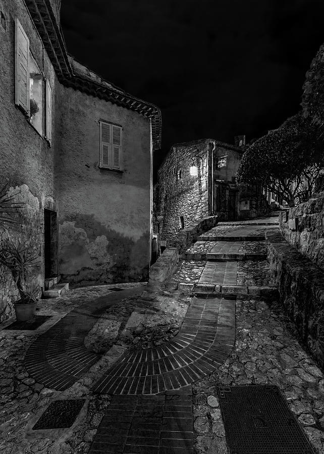 Medieval Village of Eze, Provence - Black and White - Series 6 of 16 by Carl Amoth