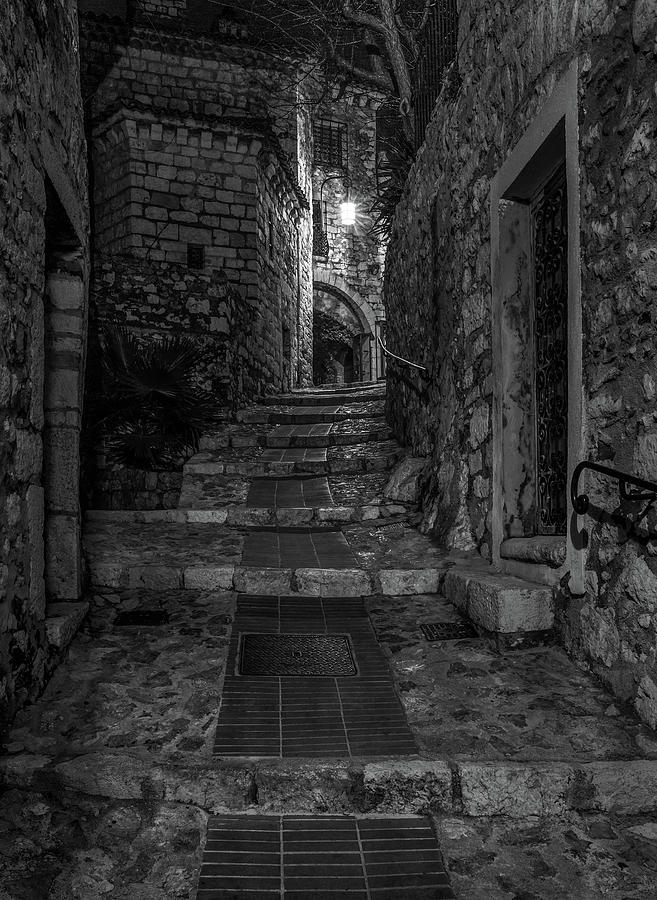 Medieval Village of Eze, Provence - Black and White - Series 8 of 16 by Carl Amoth