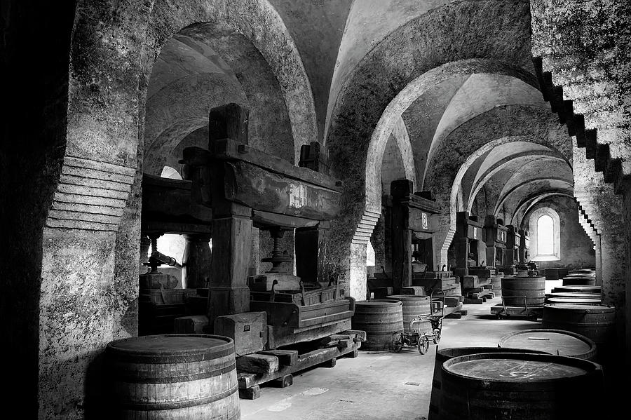 Medieval Wine Cellar Photograph by Ollo