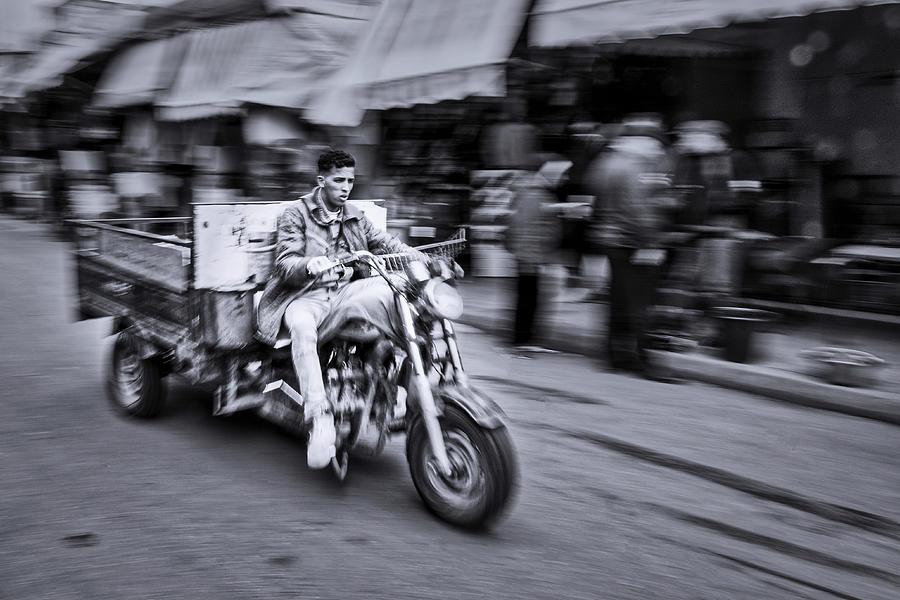 Medina Delivery Driver - Morocco by Stuart Litoff