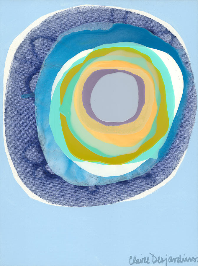 Abstract Painting - Meditate by Claire Desjardins