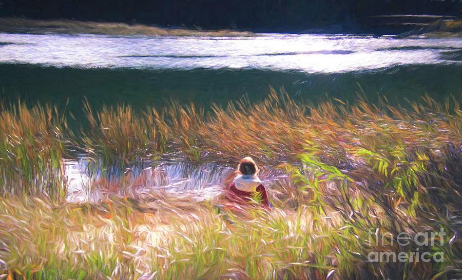 Meditating In Nature by Karen Silvestri