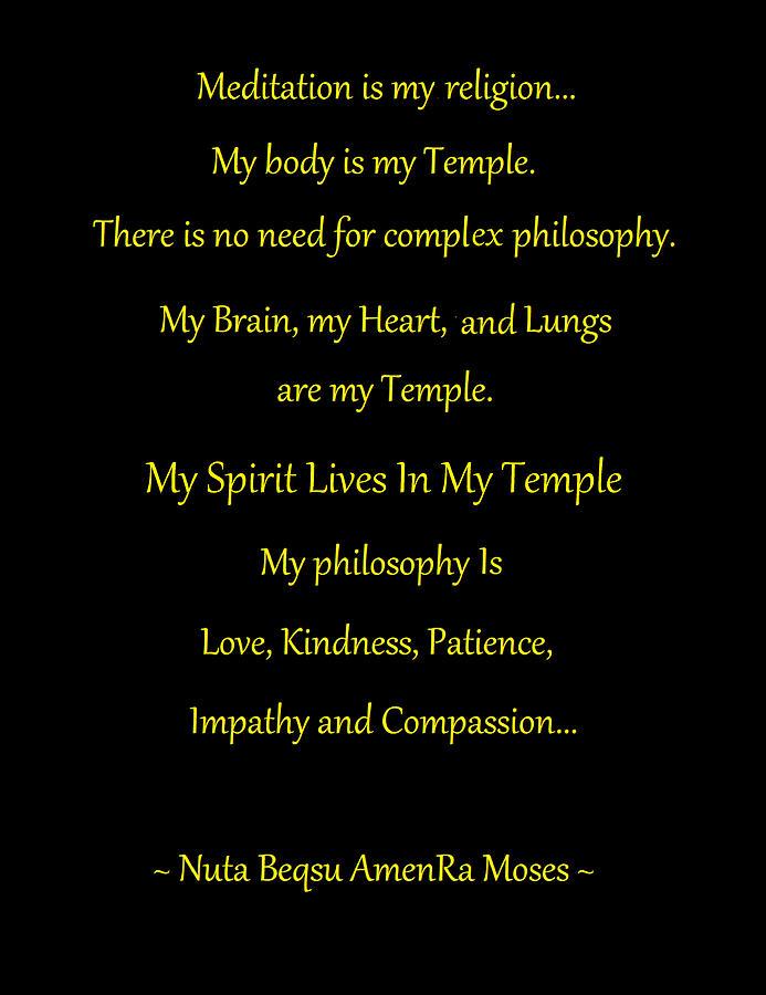 Meditation Is My Religion by Adenike AmenRa