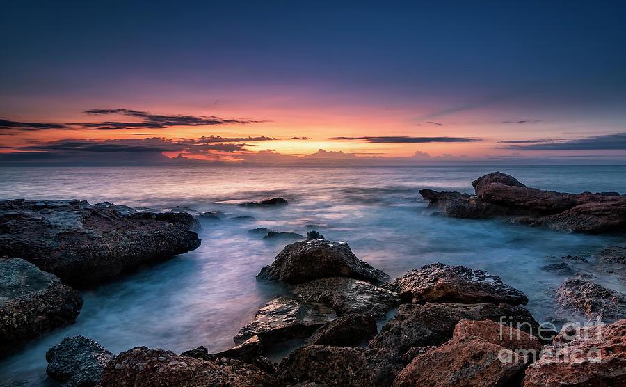 Mediterranean Sea Photograph - Mediterranean Sunrise by Hernan Bua