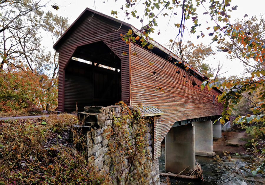 Meems Bottom Covered Bridge by Suzanne Stout