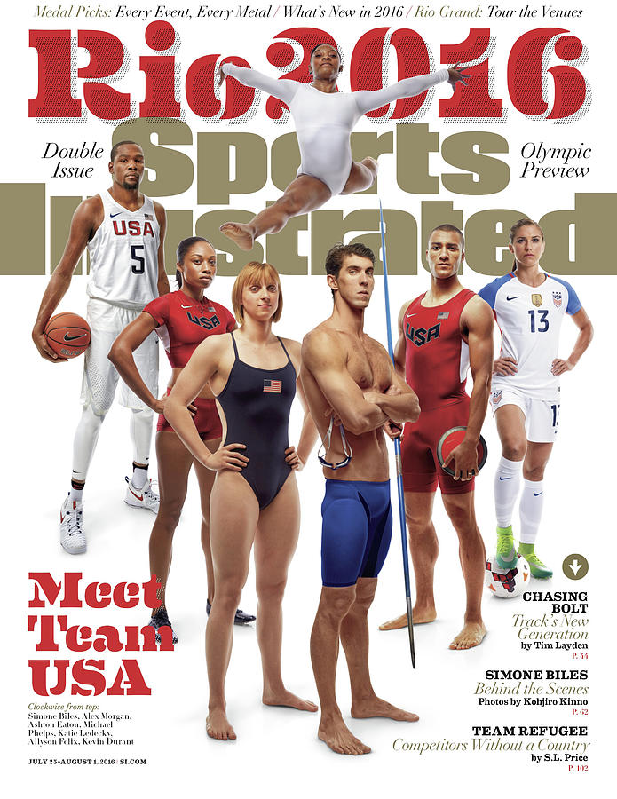 Meet Team Usa 2016 Rio Olympic Games Preview Sports Illustrated Cover Photograph by Sports Illustrated