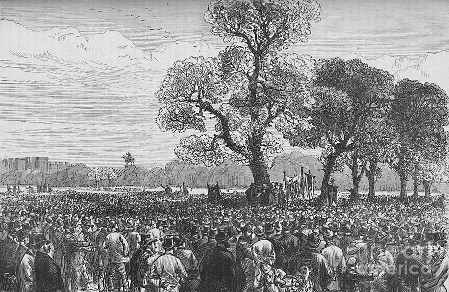 Meeting At The Reformers Tree, Hyde Drawing by Print Collector
