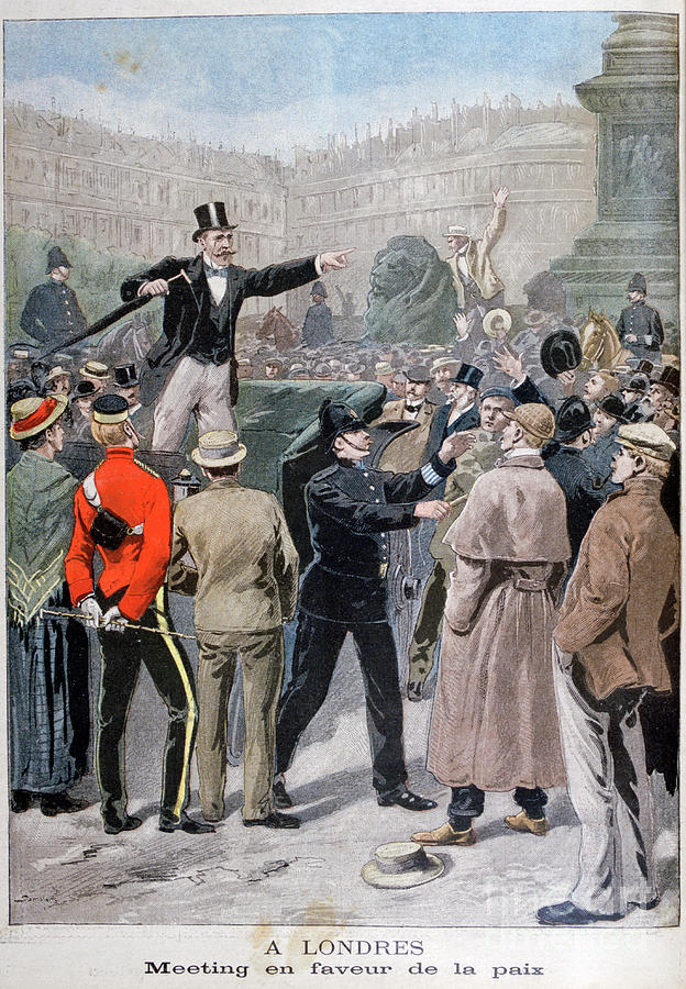 Meeting In Favour Of Peace, London Drawing by Print Collector