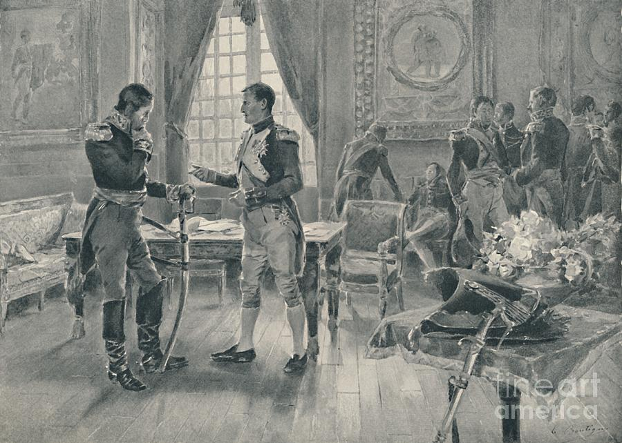 Meeting Of Napoleon And Tolstoi In Paris Drawing by Print Collector