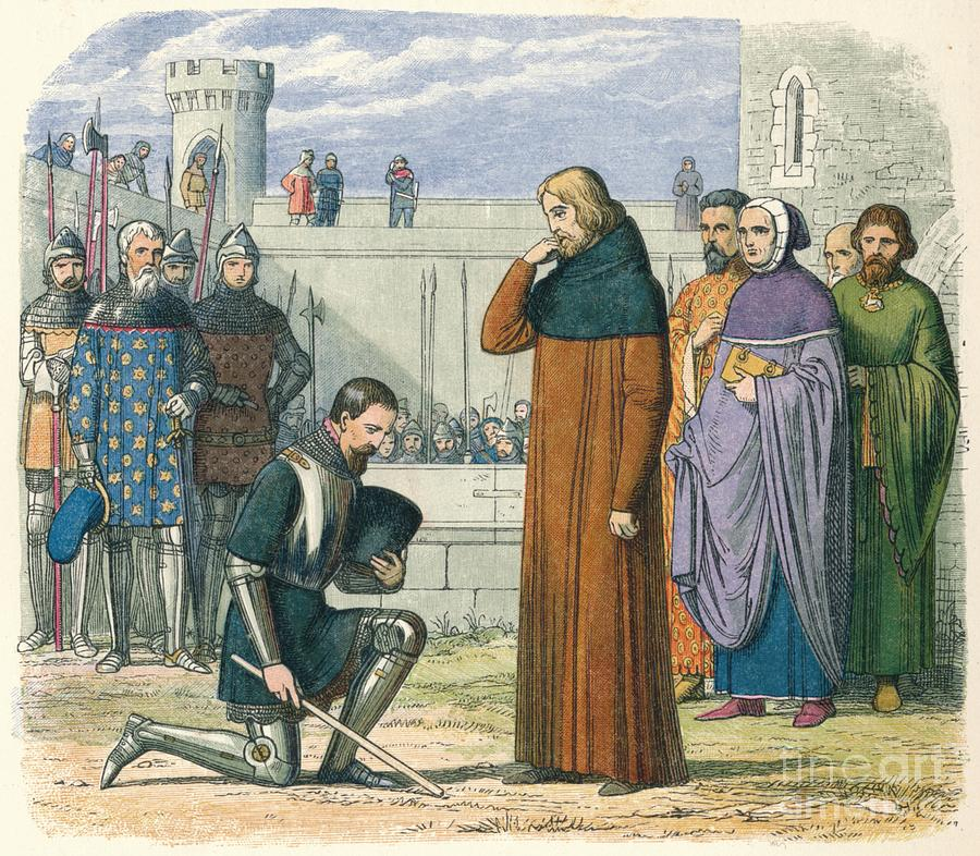 Meeting Of Richard And Henry 1399 1864 Drawing by Print Collector
