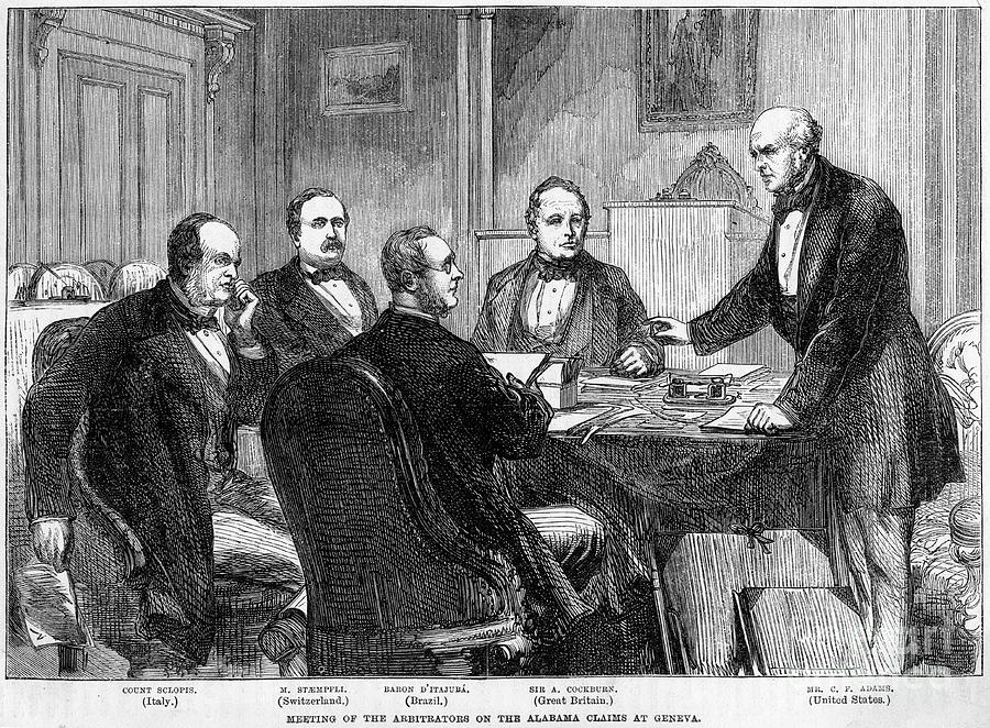 Meeting Of The Arbitrators Drawing by Print Collector