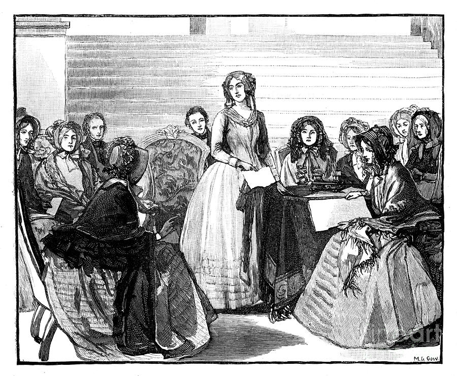 Meeting Of The Ladies Committee Drawing by Print Collector