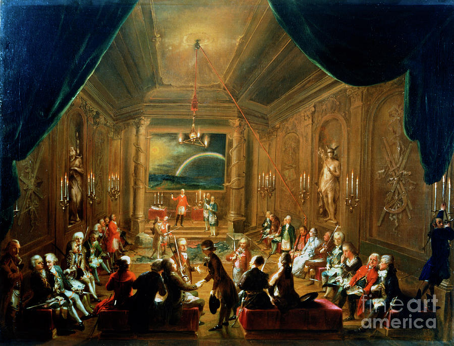 Meeting Of The Masonic Lodge, Vienna Drawing by Print Collector