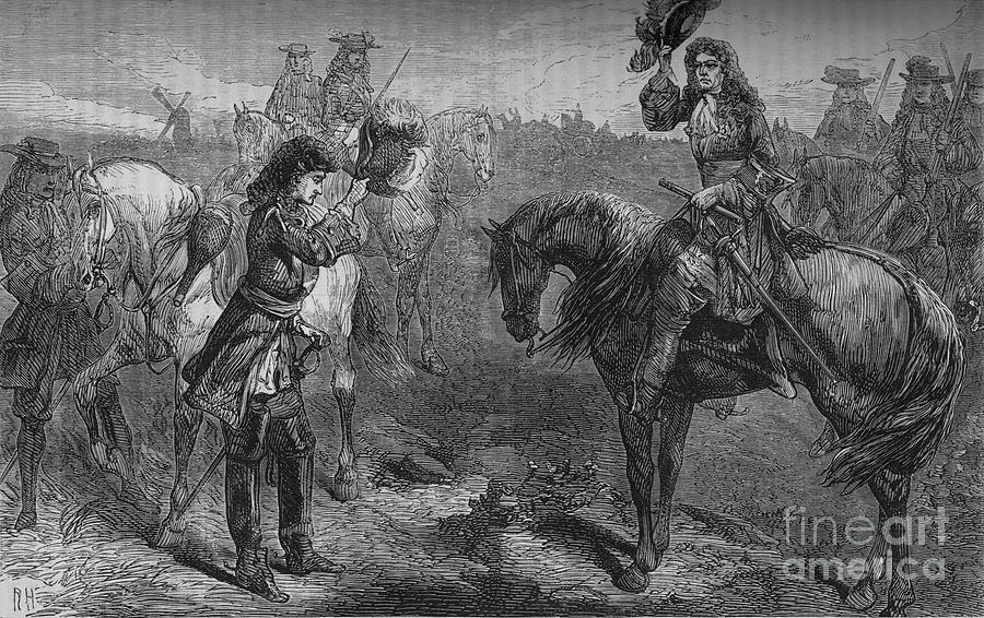 Meeting Of William IIi And The Duke Drawing by Print Collector