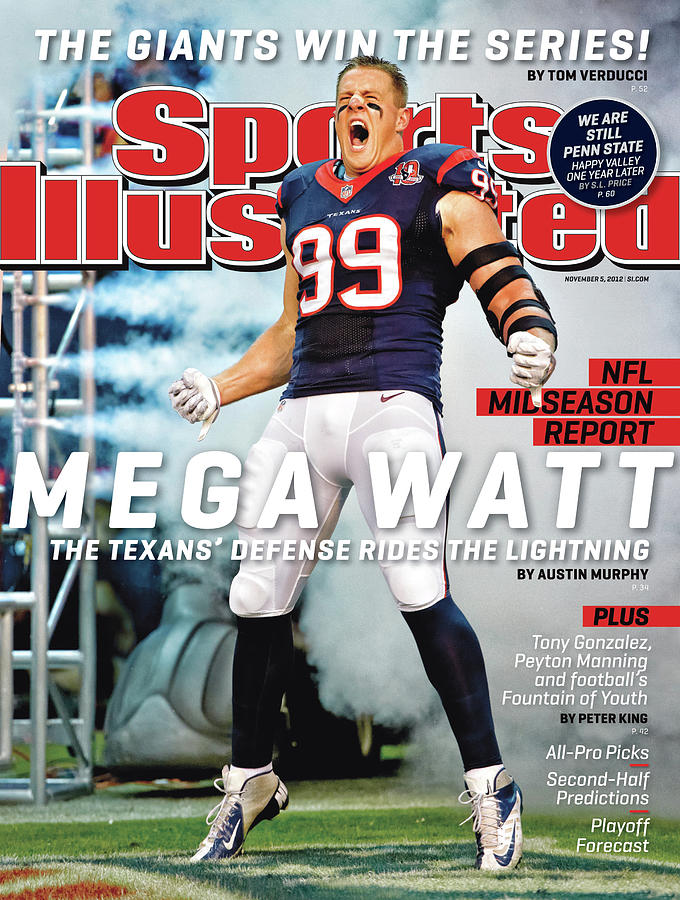 Mega Watt The Texans Defense Rides The Lightning Sports Illustrated Cover Photograph by Sports Illustrated