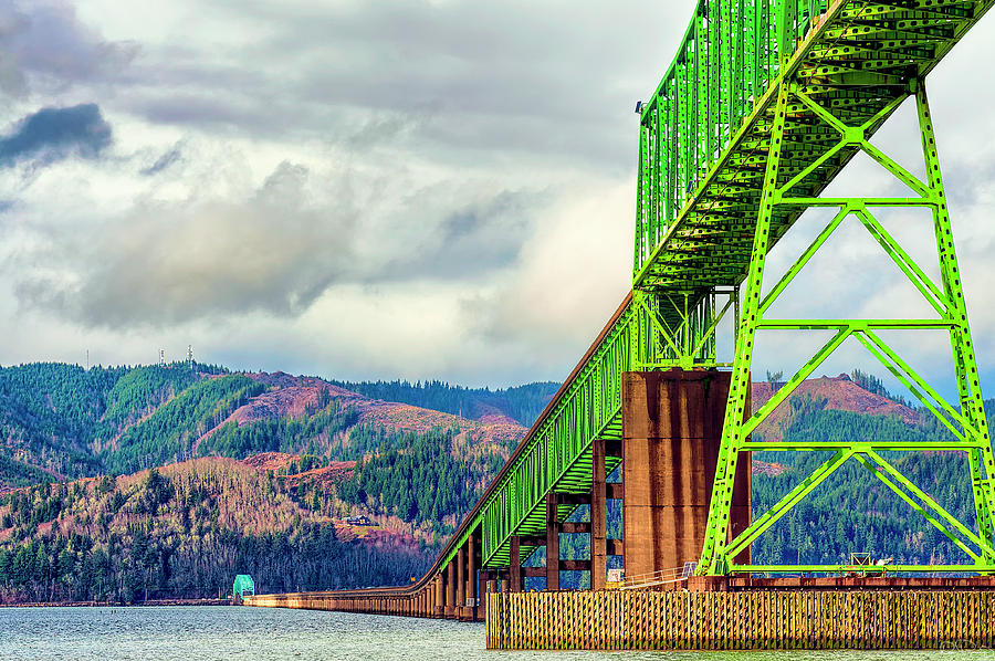 Megler Bridge Spanning The Columbia by Dee Browning