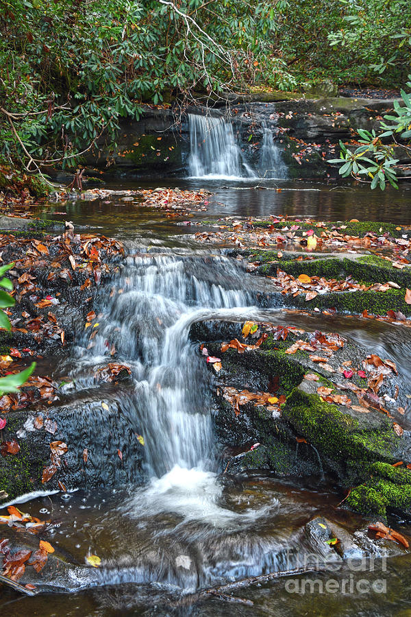 Waterfalls Photograph - Meigs Falls 6 by Phil Perkins