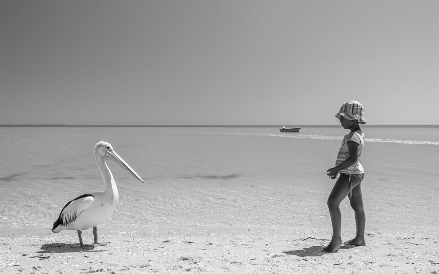 Pelican Photograph - Mekdi And The Pelican by Gloria Salgado Gispert