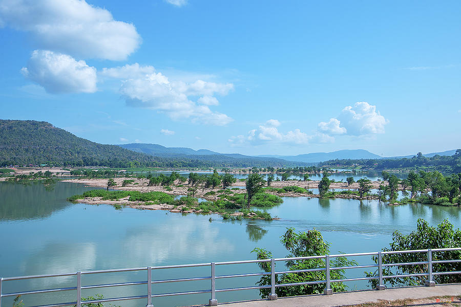Mekong River and Laos in the Distance DTHU0988 by Gerry Gantt