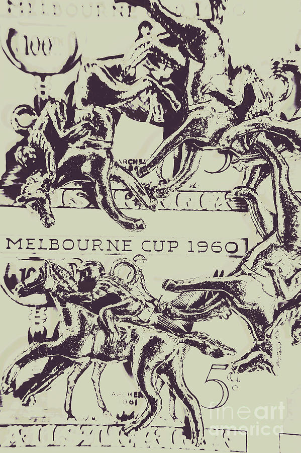 Race Photograph - Melbourne Cup 1960 by Jorgo Photography - Wall Art Gallery