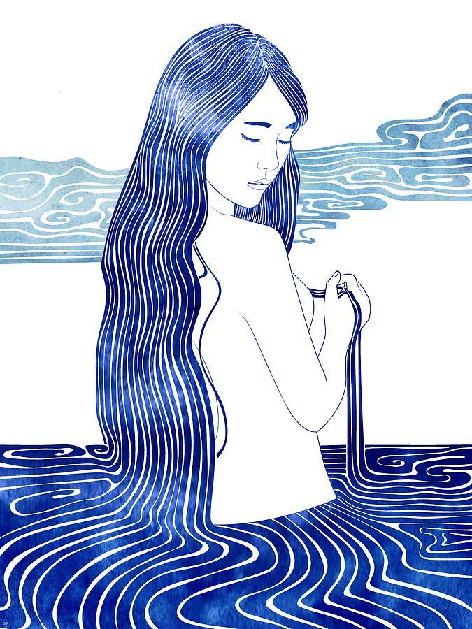 Aqua Mixed Media - Melite by Stevyn Llewellyn