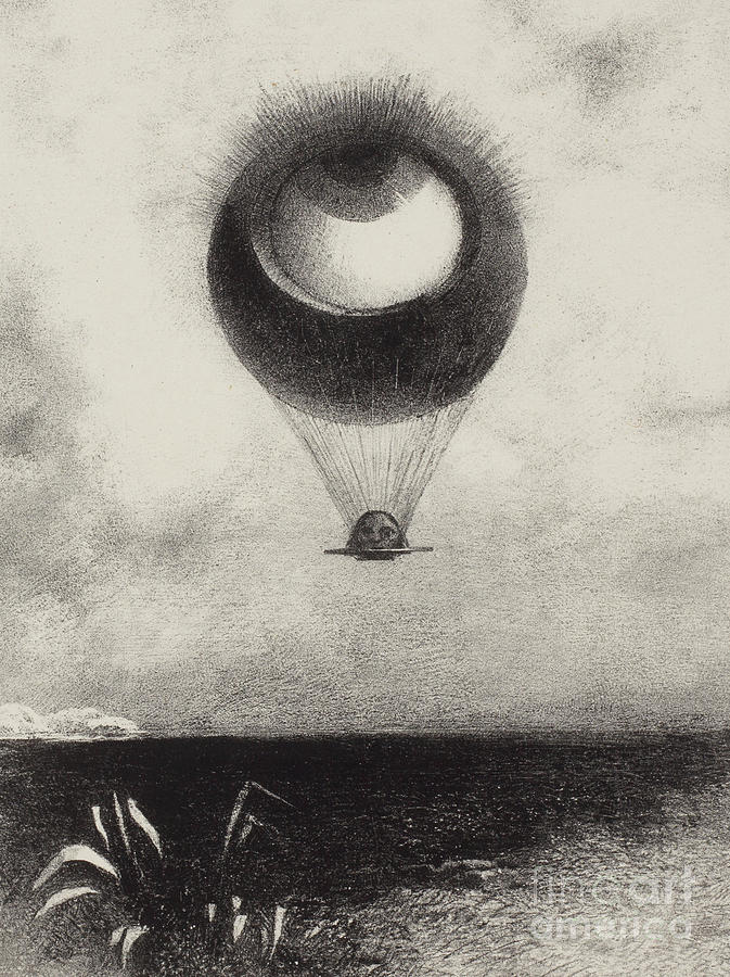 Surreal Drawing - Mellerio  Eye by Odilon Redon