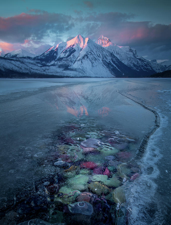 Melt, Freeze, Repeat / Late Winter / Lake McDonald, Glacier National Park  by Nicholas Parker