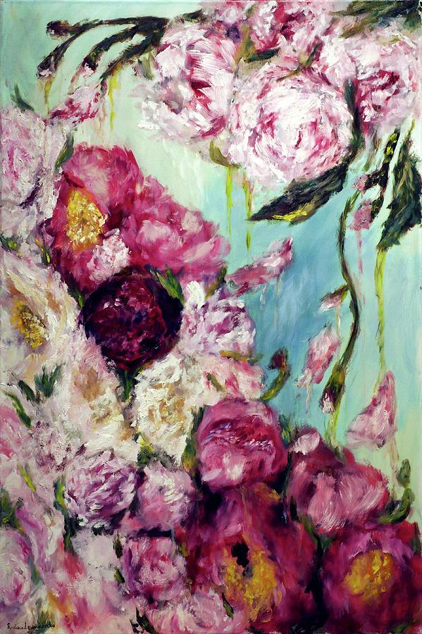 Flowers Painting - Melting Flowers by Ruslana Levandovska