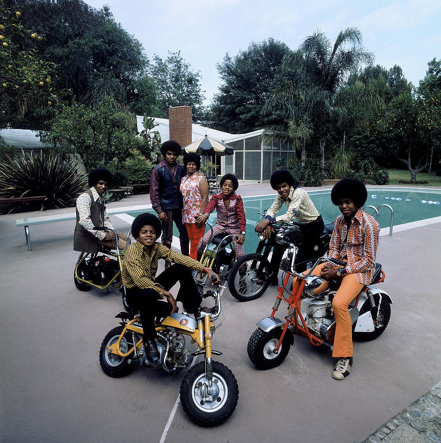People Photograph - Members Of Pop Group Jackson Five by John Olson
