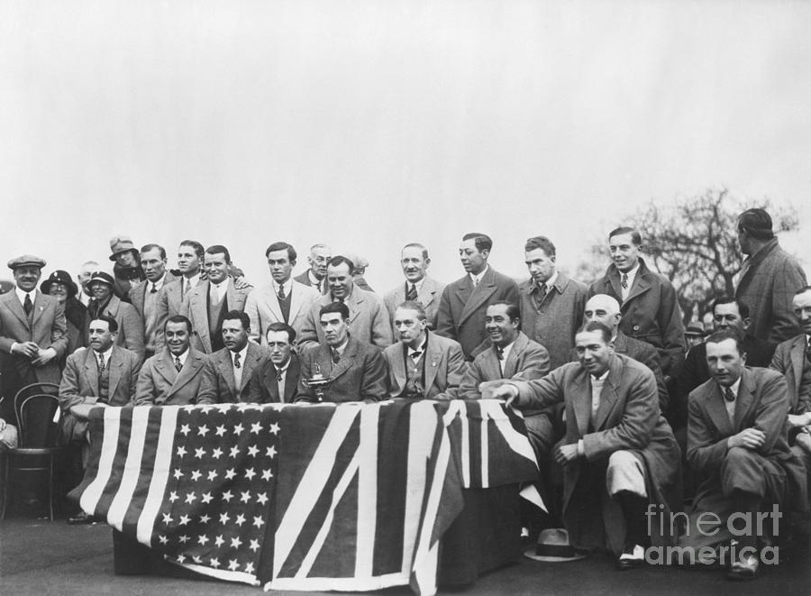 Members Of Ryder Cup Teams Photograph by Bettmann