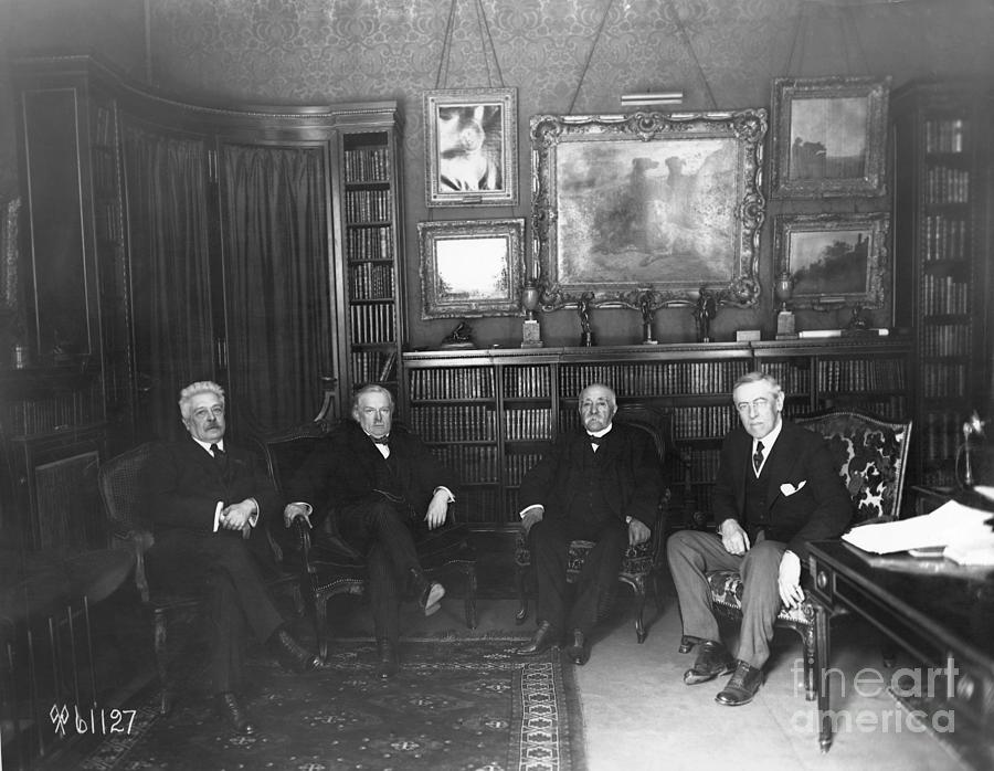 Members Of Versailles Conference Photograph by Bettmann