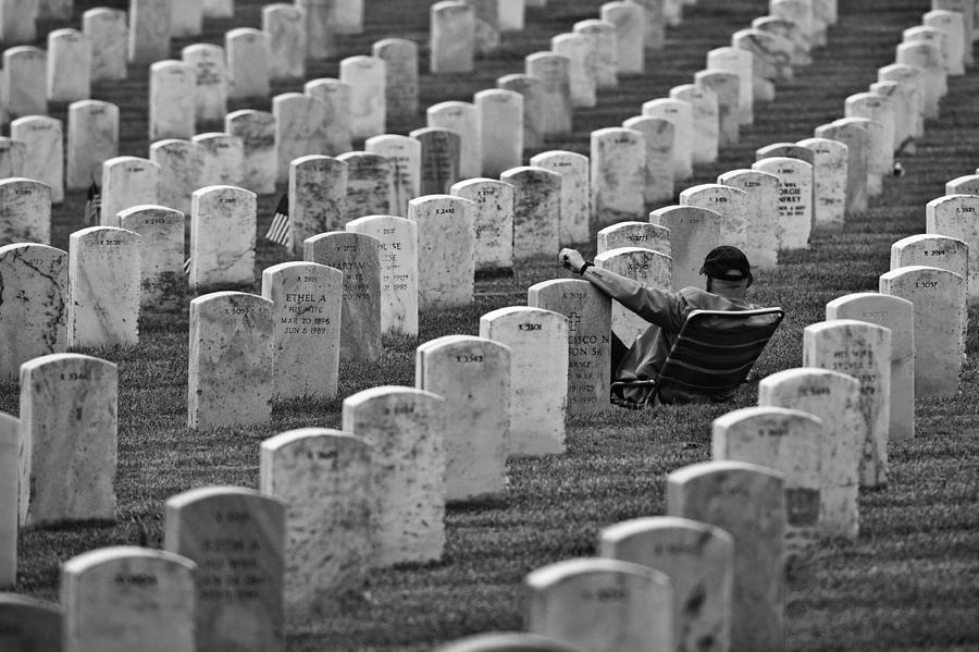 Graveyard Photograph - Memorial. Father......and Brother by Jerry Berry