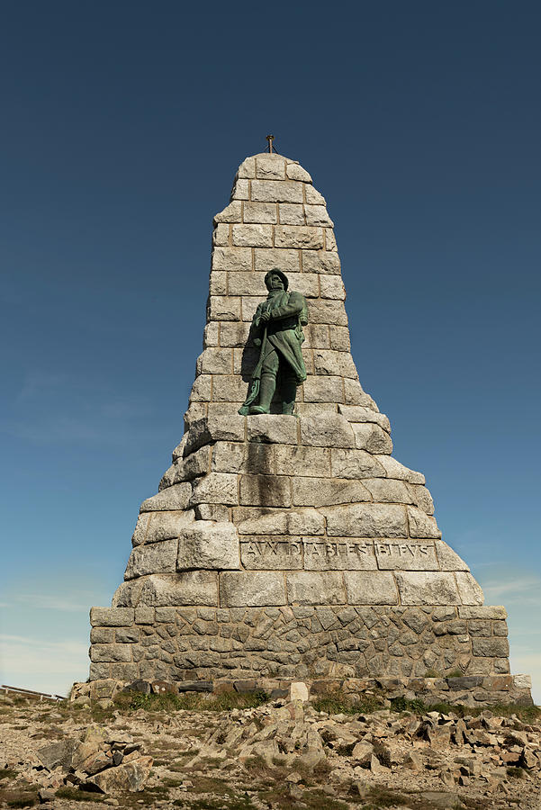 Memorial to the Chasseurs Alpins - Diables Bleus, on Grand Ballon by RicardMN Photography