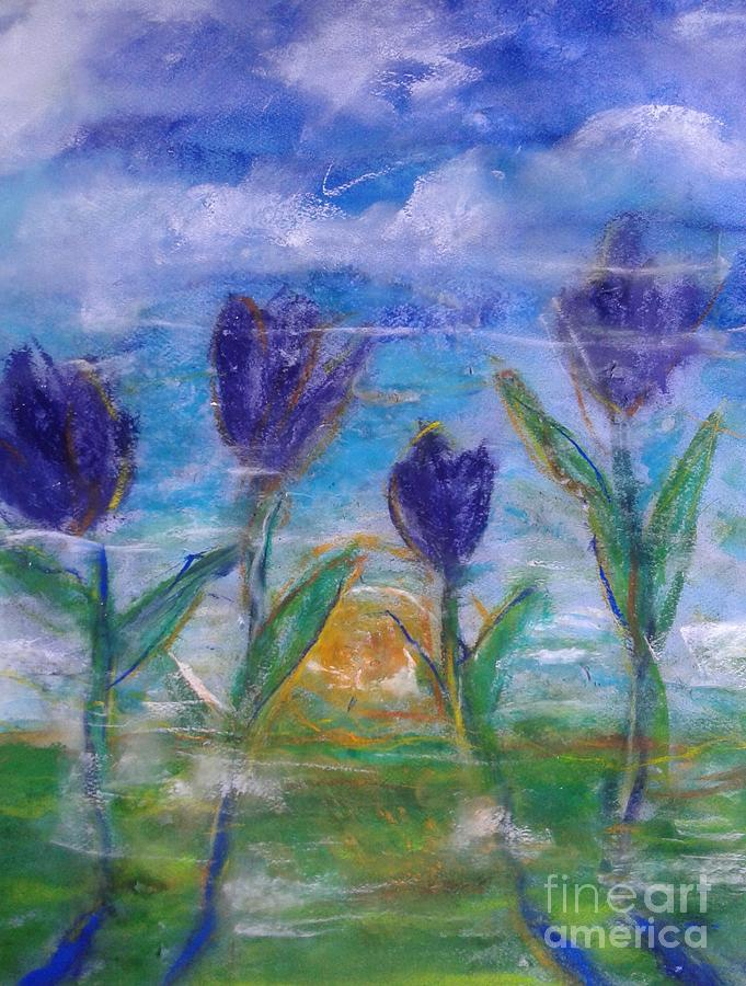 Inspirational Pastel - Memories of tulips at sunrise  by Kurt Fondriest