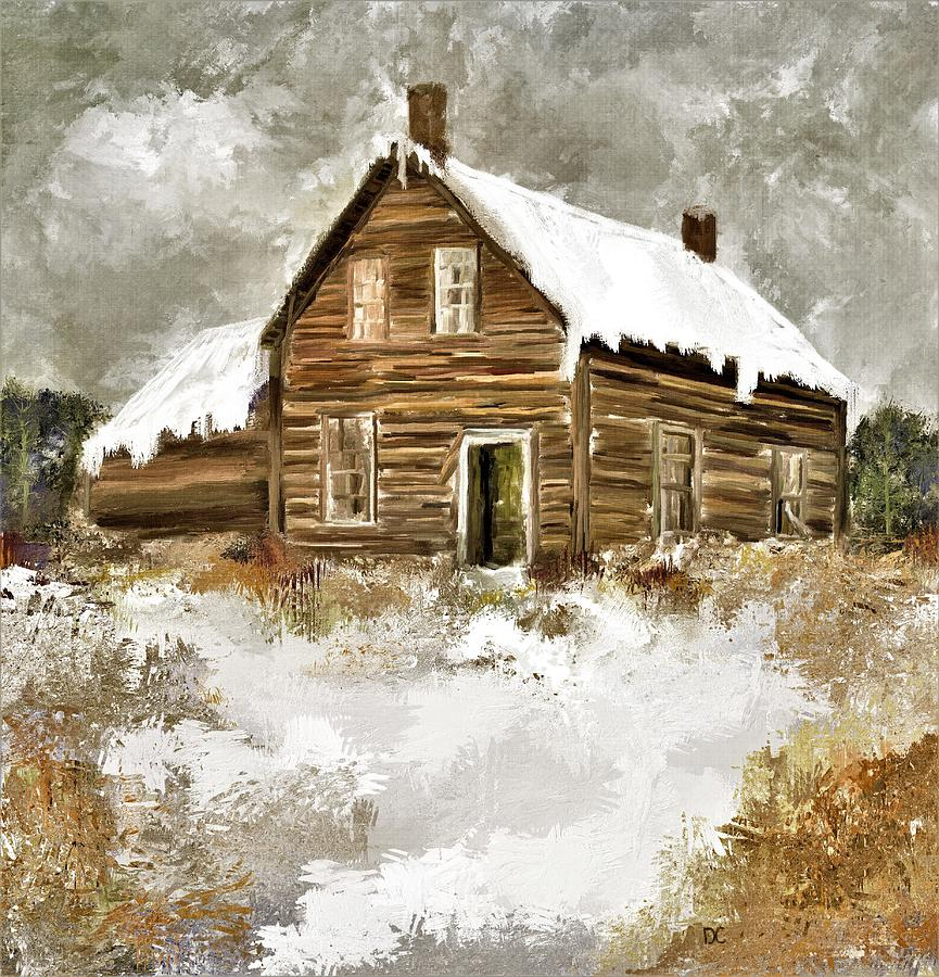 Snow Painting - Memories Of Winters Past by Diane Chandler
