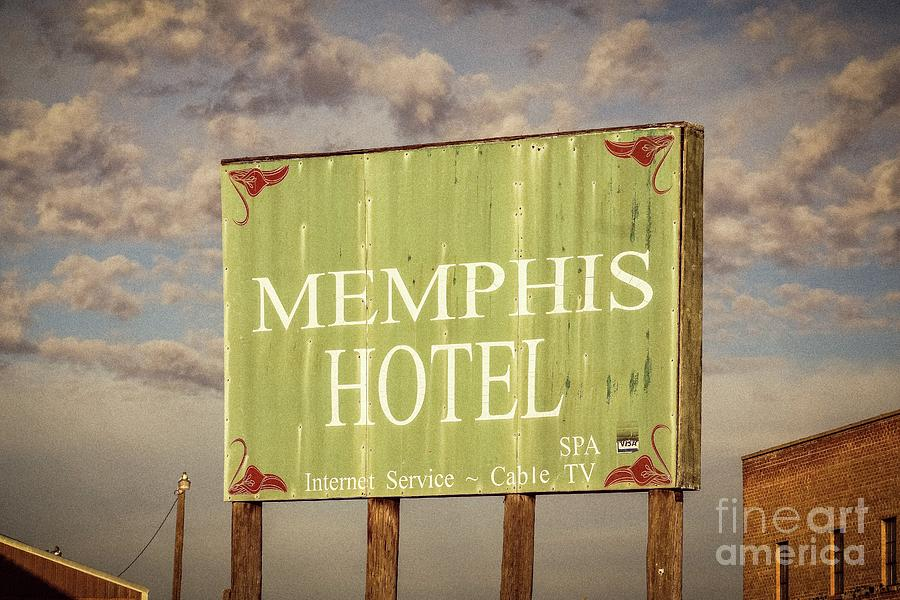 Memphis Hotel Sign by Imagery by Charly
