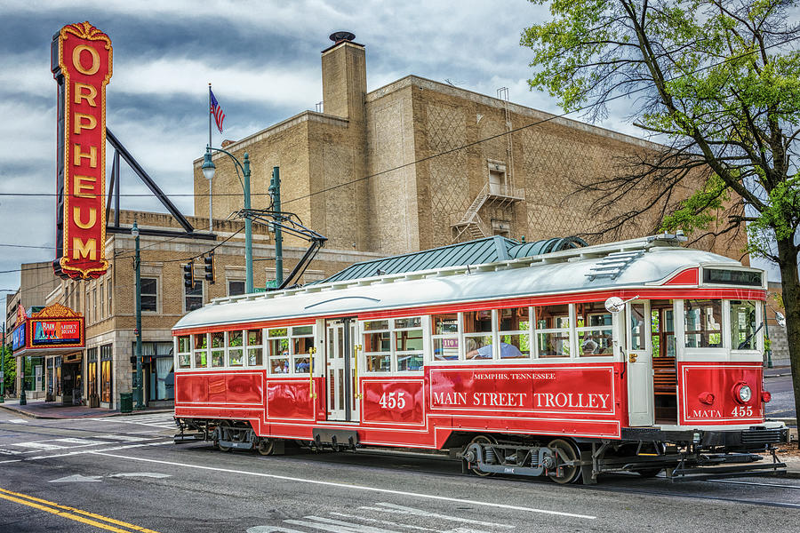 Memphis Main Street Trolley by Susan Rissi Tregoning