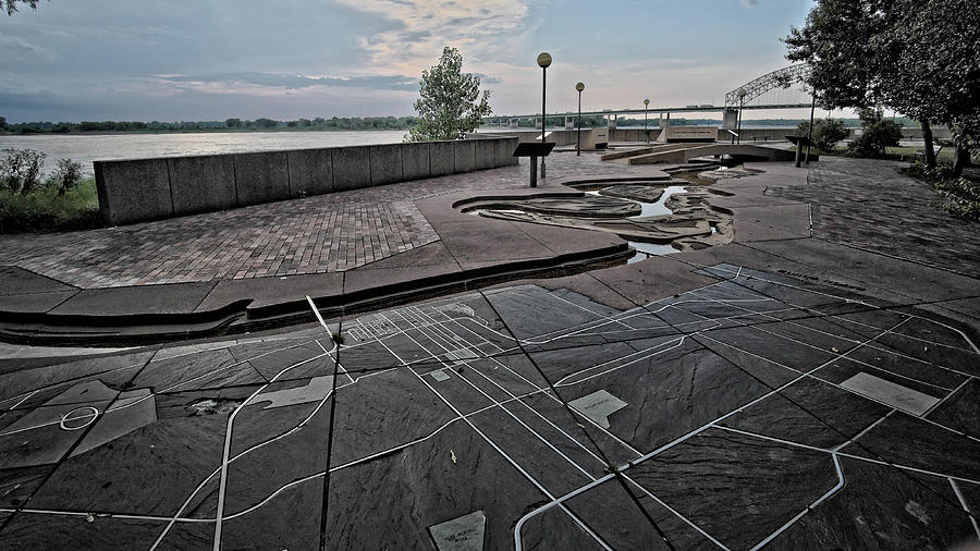 Memphis, Mississippi River and Mud Island by George Taylor