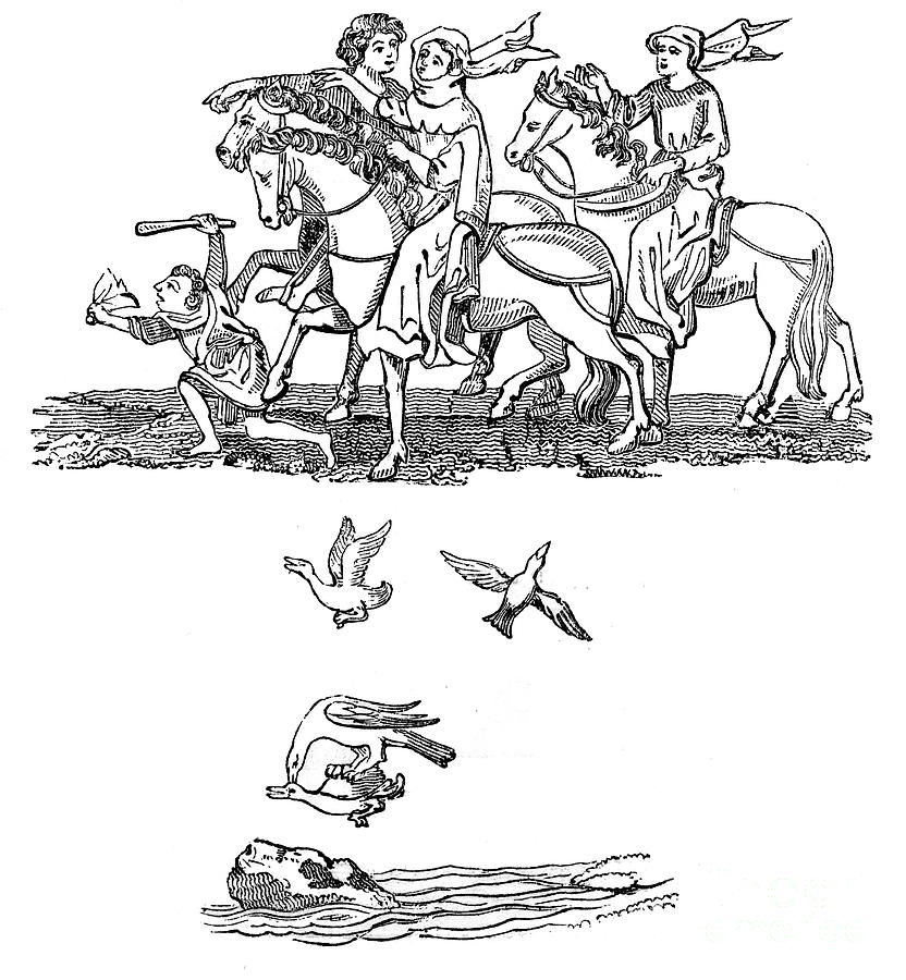 Men And Women In The Act Of Hawking Drawing by Print Collector