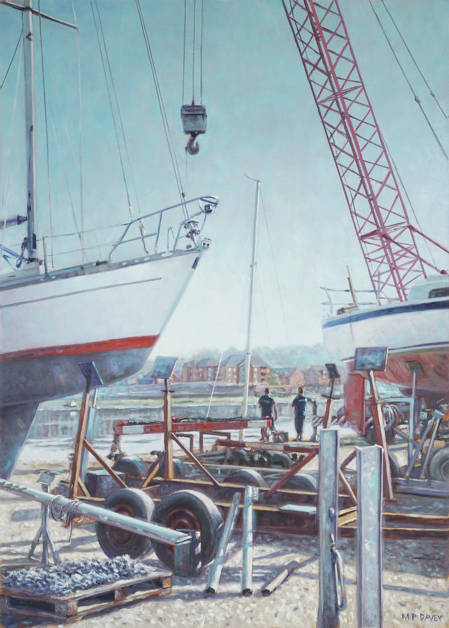 Men at Northam Southampton boat yard by Martin Davey
