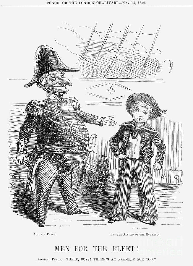 Men For The Fleet, 1859 Drawing by Print Collector