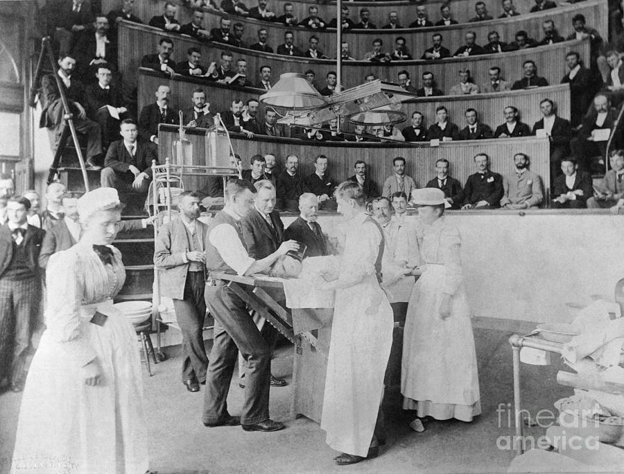 Men Observing Early Surgery Photograph by Bettmann