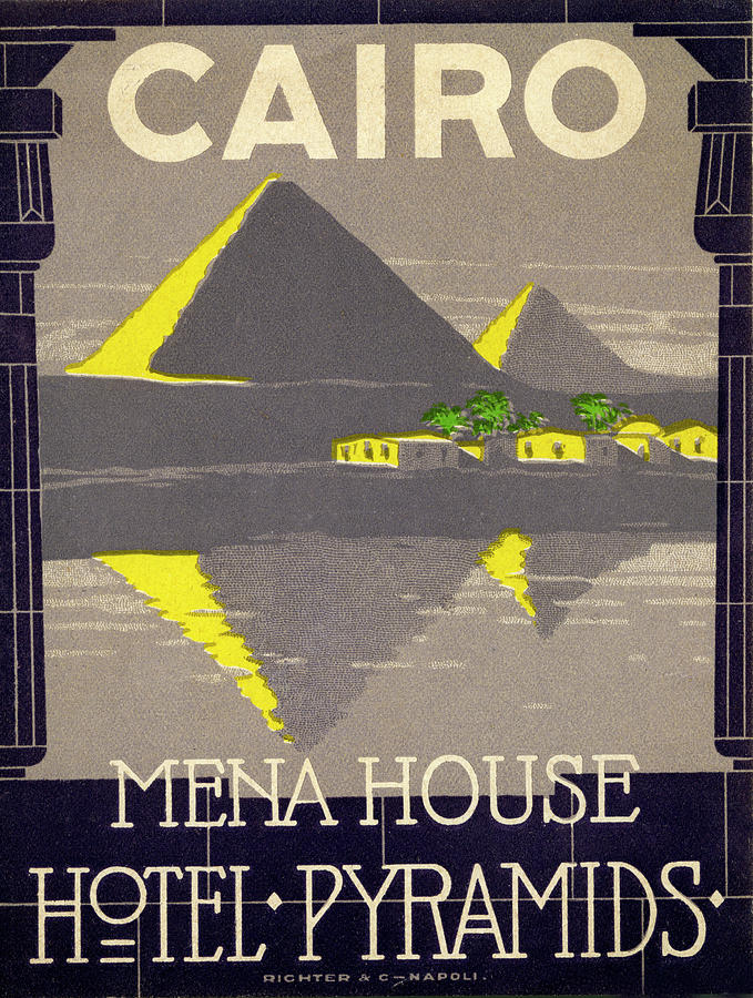 Mena House, Hotel Pyramids Photograph by Jim Heimann Collection