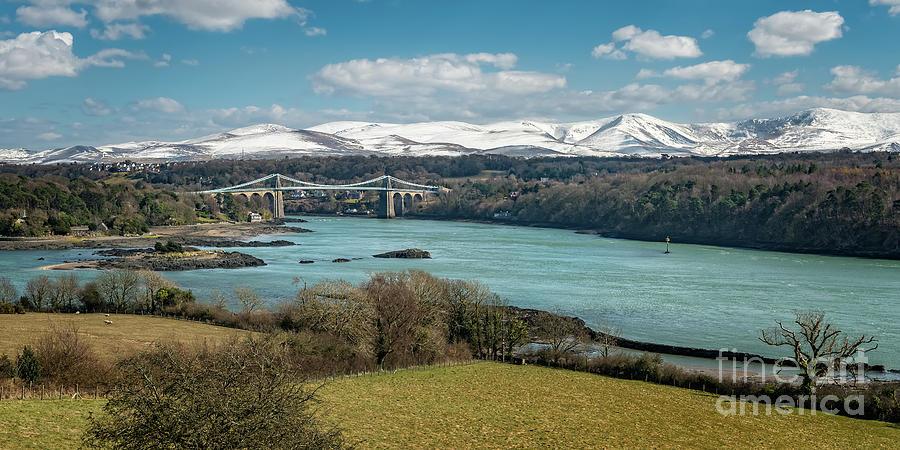 Menai Bridge Anglesey by Adrian Evans