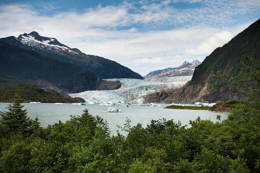 Mendenhall Glacier And Bay Photograph by Blake Kent / Design Pics