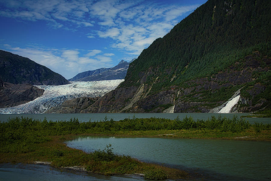Mendenhall Glacier and Nugget Falls by Ernie Echols