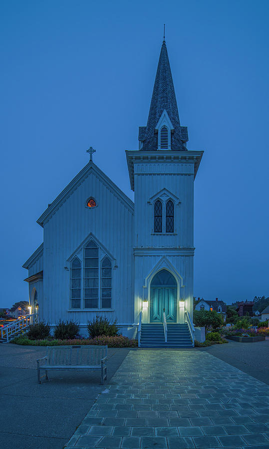 Mendocino Presbyterian Church by Jonathan Hansen