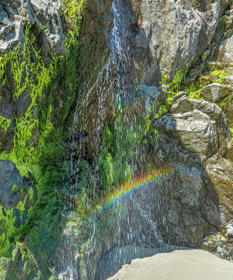 Mendocino Waterfall Rainbow by Jonathan Hansen