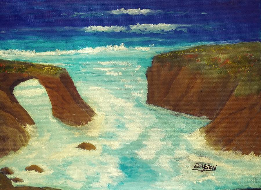 Mendocino Painting - Mendocino Waves by George Dalton