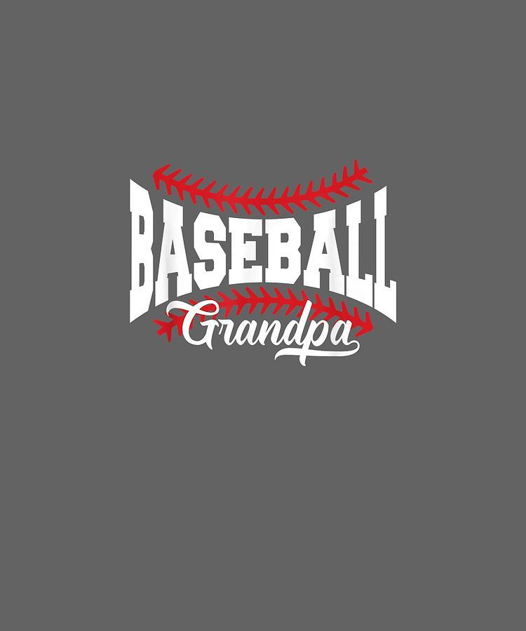 Mens Digital Art - Mens Baseball Grandpa T-shirt by Unique Tees
